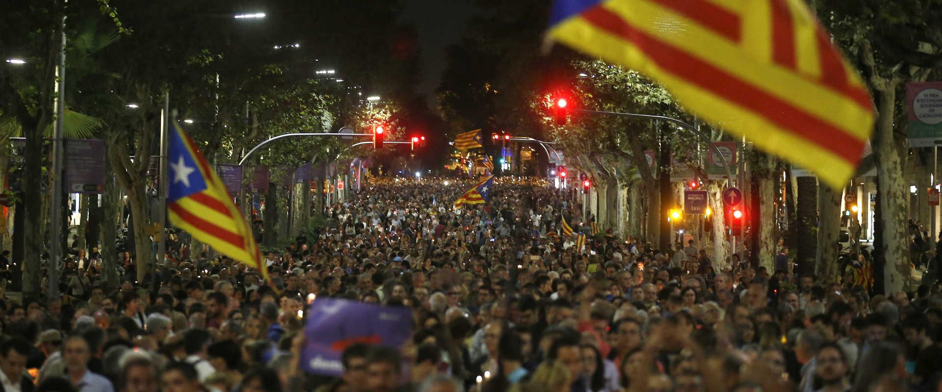 הפגנה בחבל קטלוניה