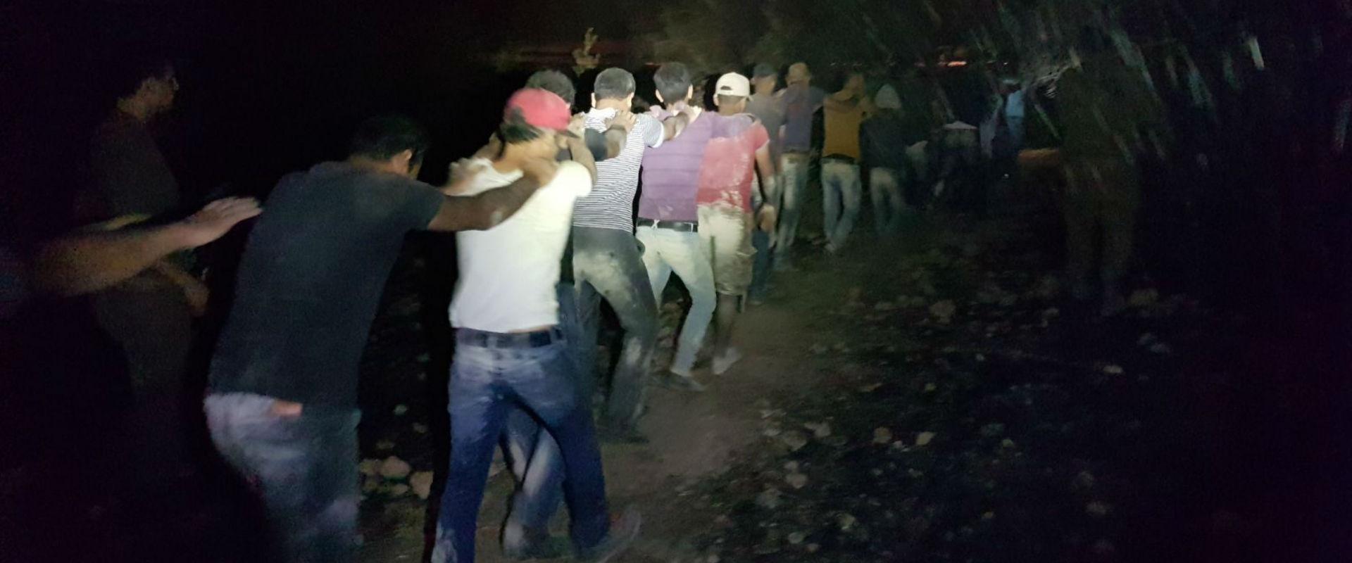 הפלסטינים שנתפסו במושב שקף