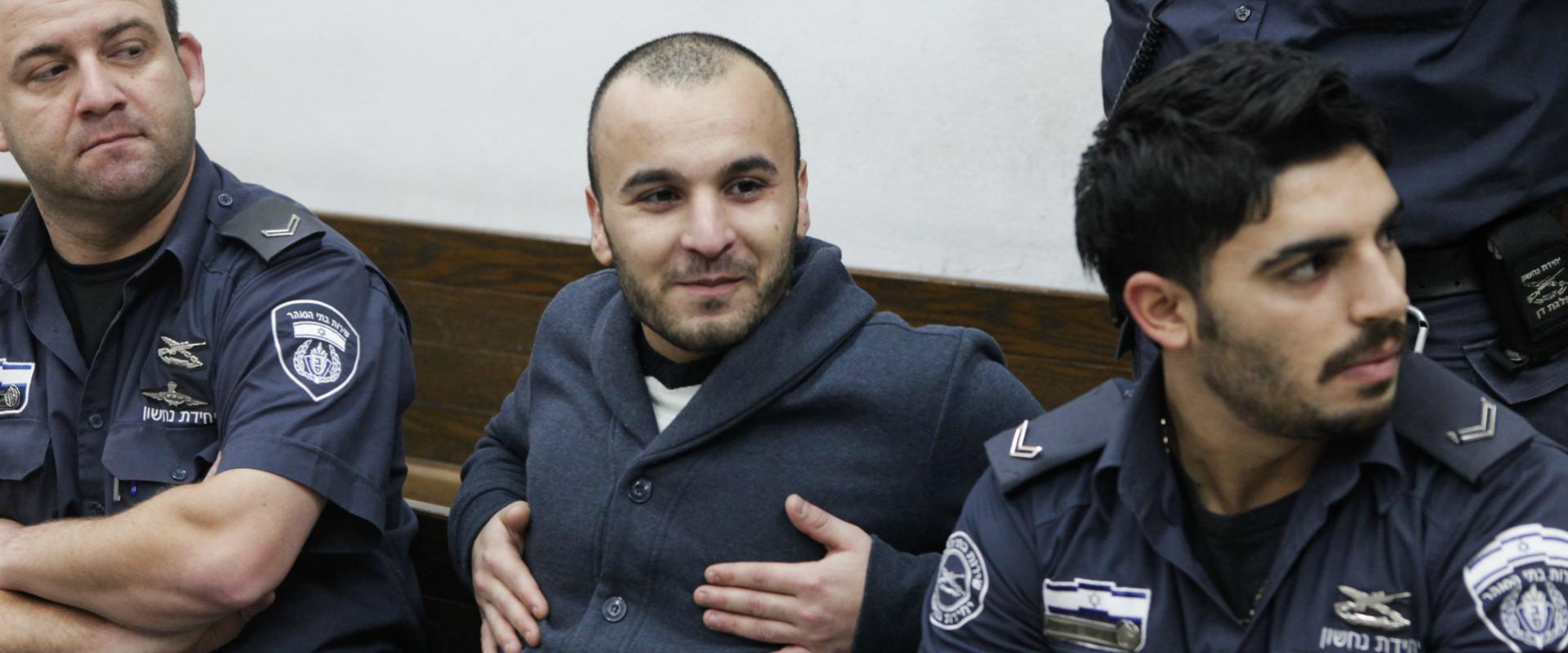 זאור חנקישייב בהארכת מעצרו. פברואר 2014