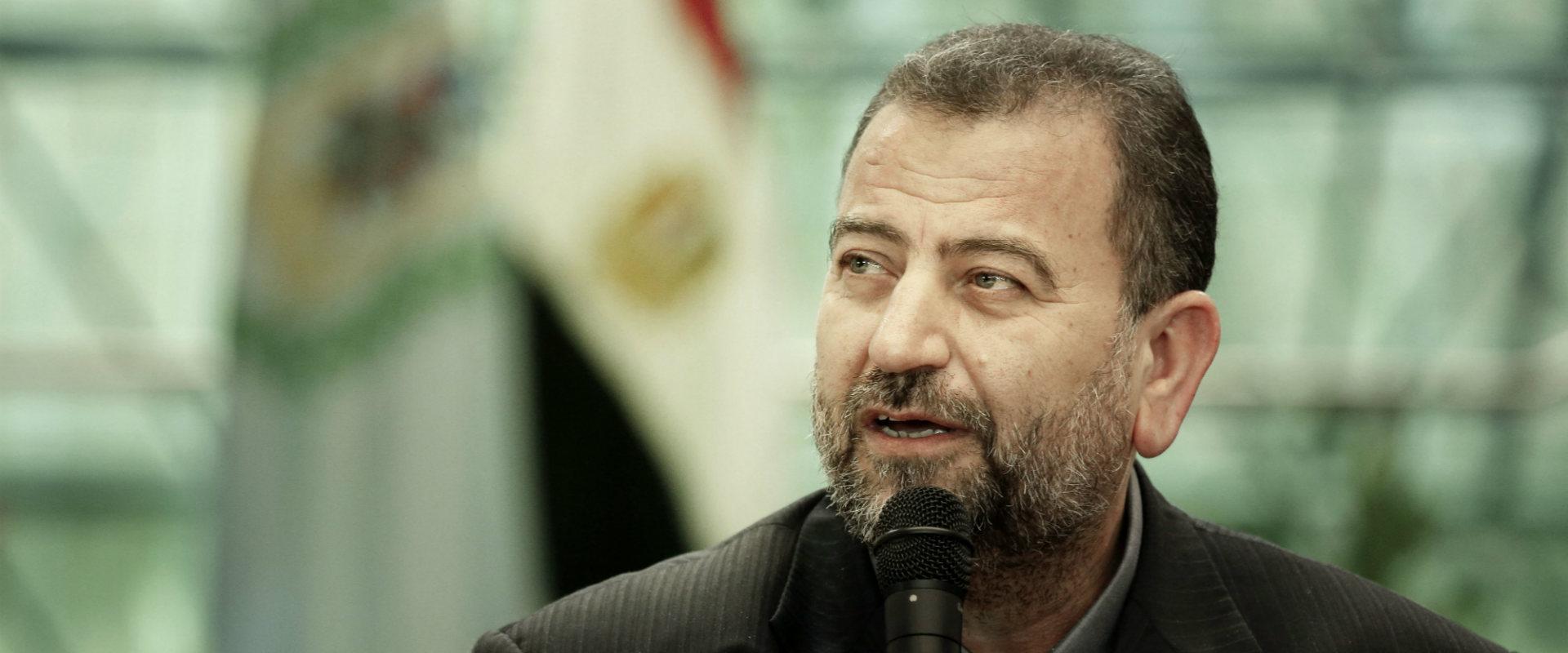 סאלח אל-עארורי בקהיר בשבוע שעבר