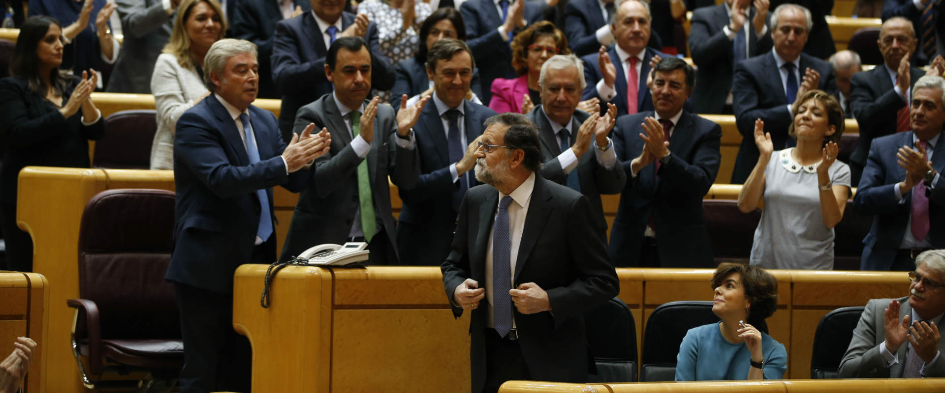 ראש ממשלת ספרד מריאנו רחוי, היום בסנאט