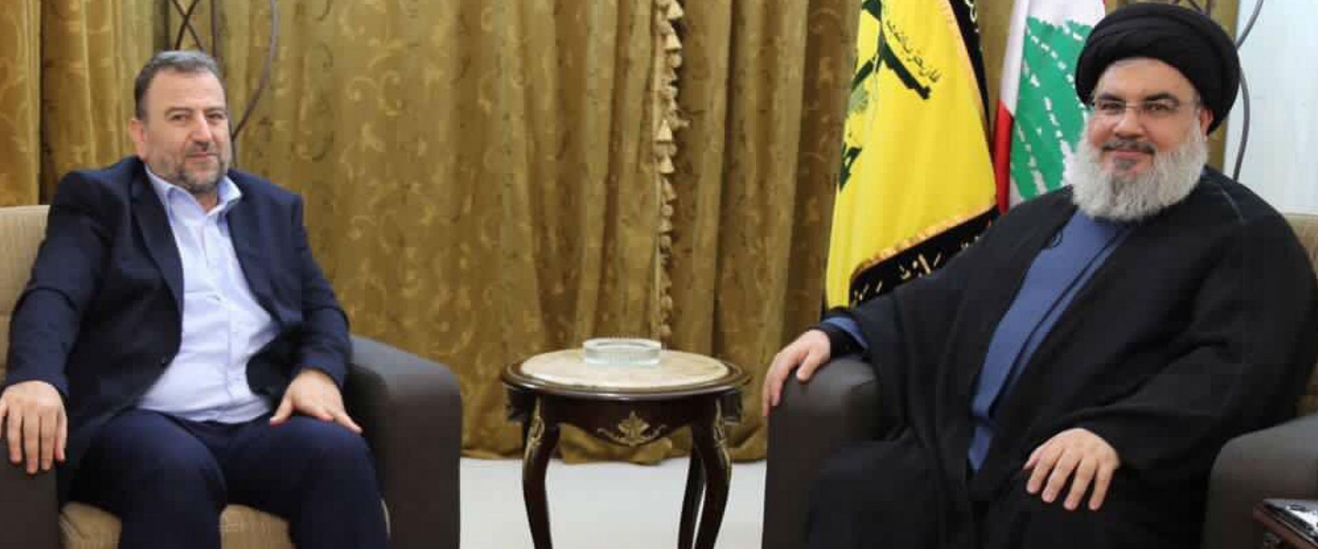 """סגן מזכ""""ל חיזבאללה, נעים קאסם, לצד נשיא איראן לשעב"""