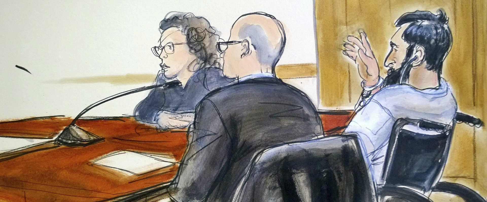 איור של סייפוב בבית המשפט, הלילה