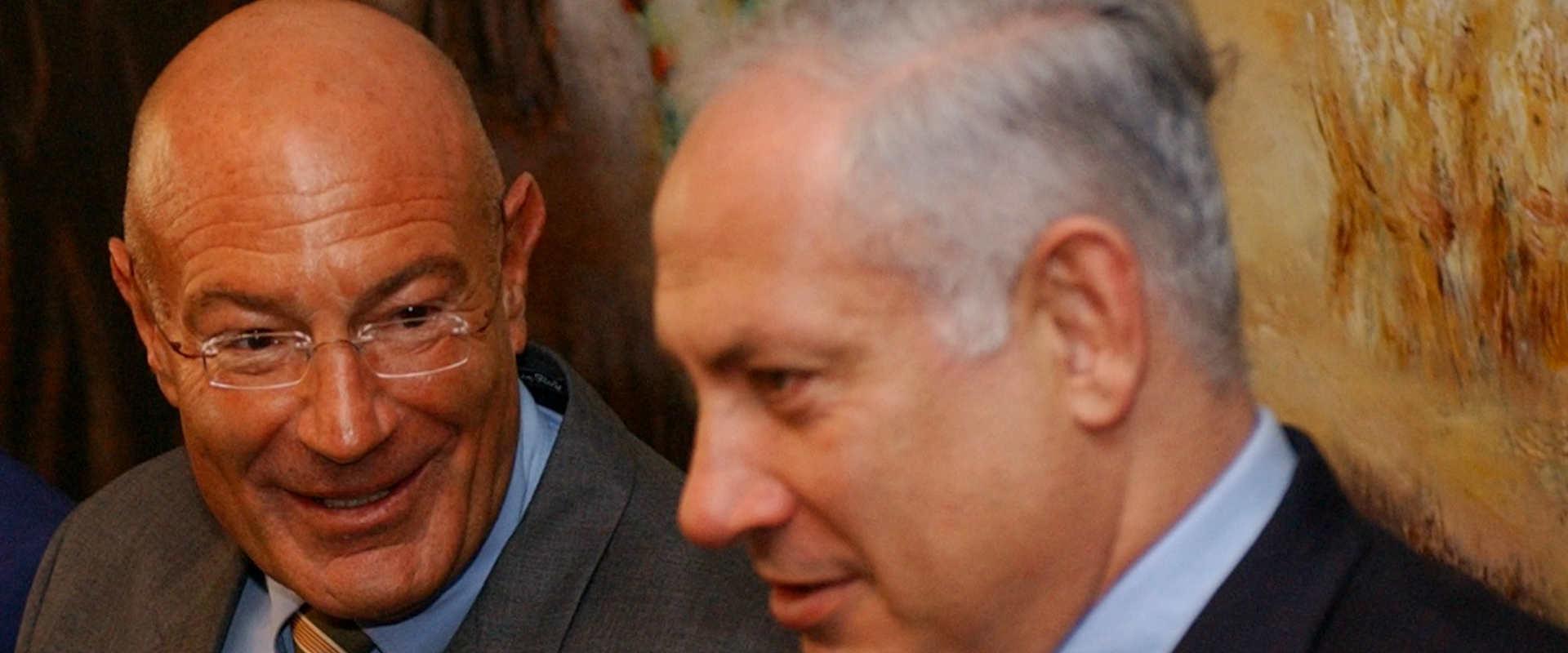מימין: ראש הממשלה נתניהו ואיש העסקים ארנון מילצ'ן