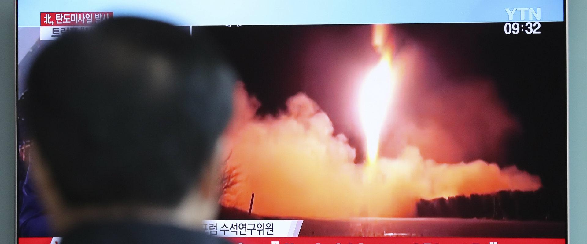 ניסוי השיגור בטיל בליסטי בשידור בטלוויזיה