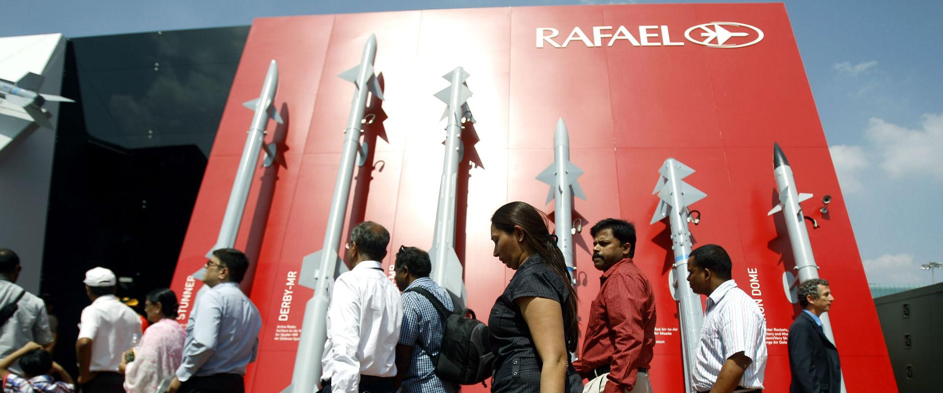 ביתן חברת רפאל בתערוכת נשק בהודו