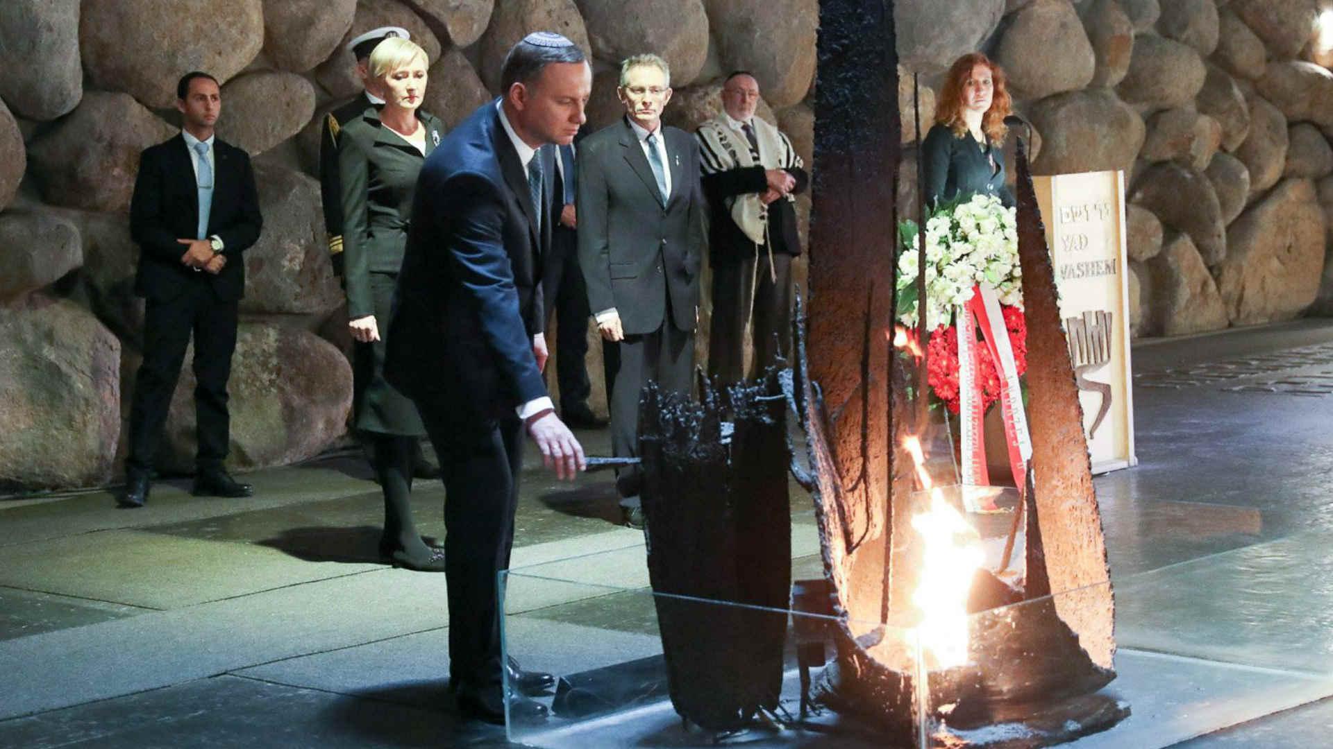 שגריר ישראל בפולין ביד ושם