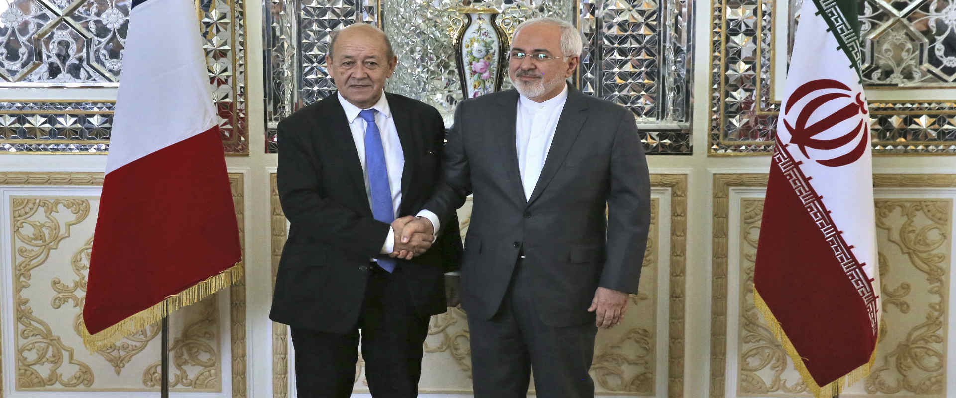 שר החוץ האיראני ומקבילו הצרפתי