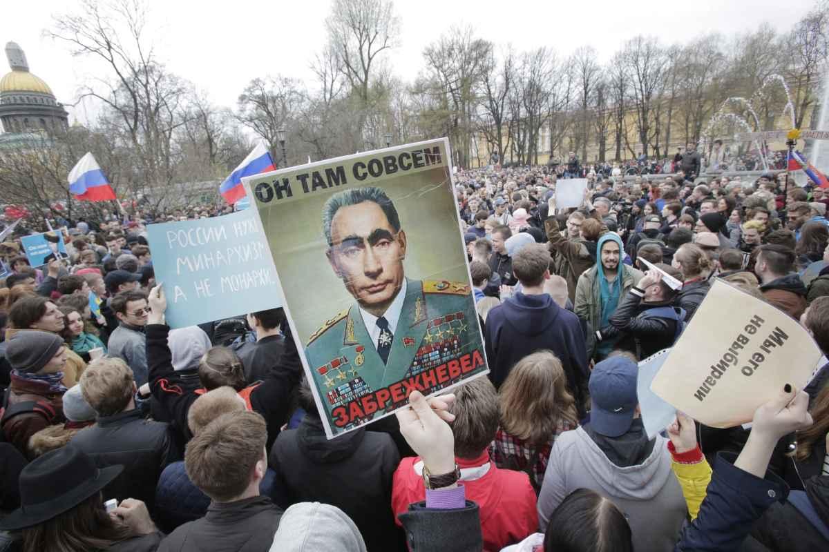הפגנת מחאה נגד ולדימיר פוטין