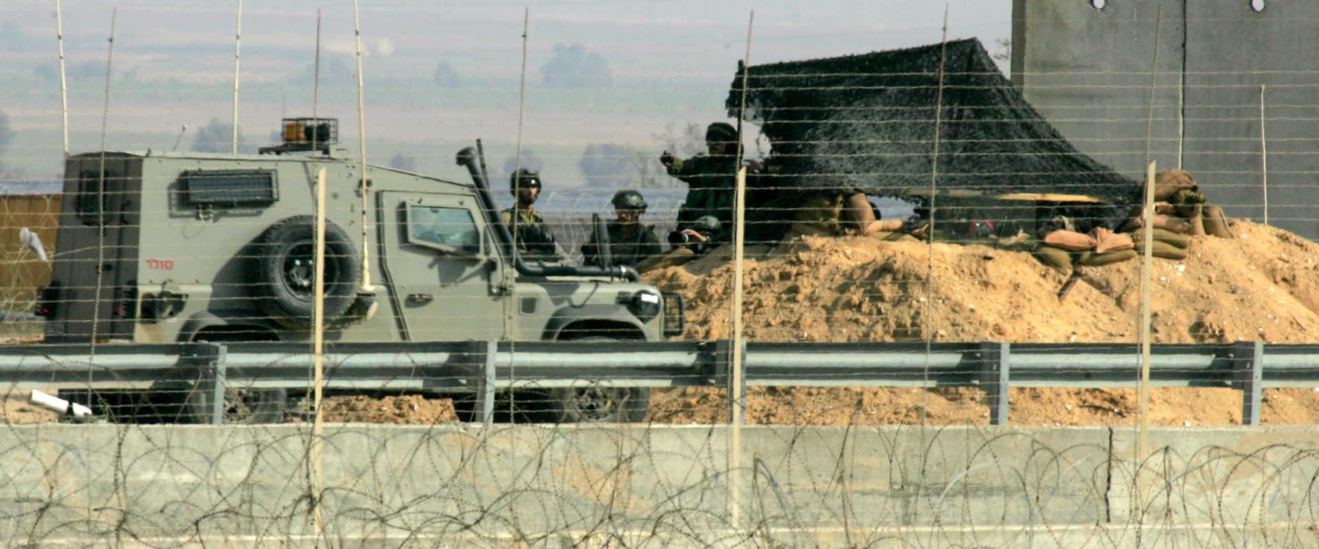 """כוח צה""""ל בגבול רצועת עזה, בחודש שעבר"""