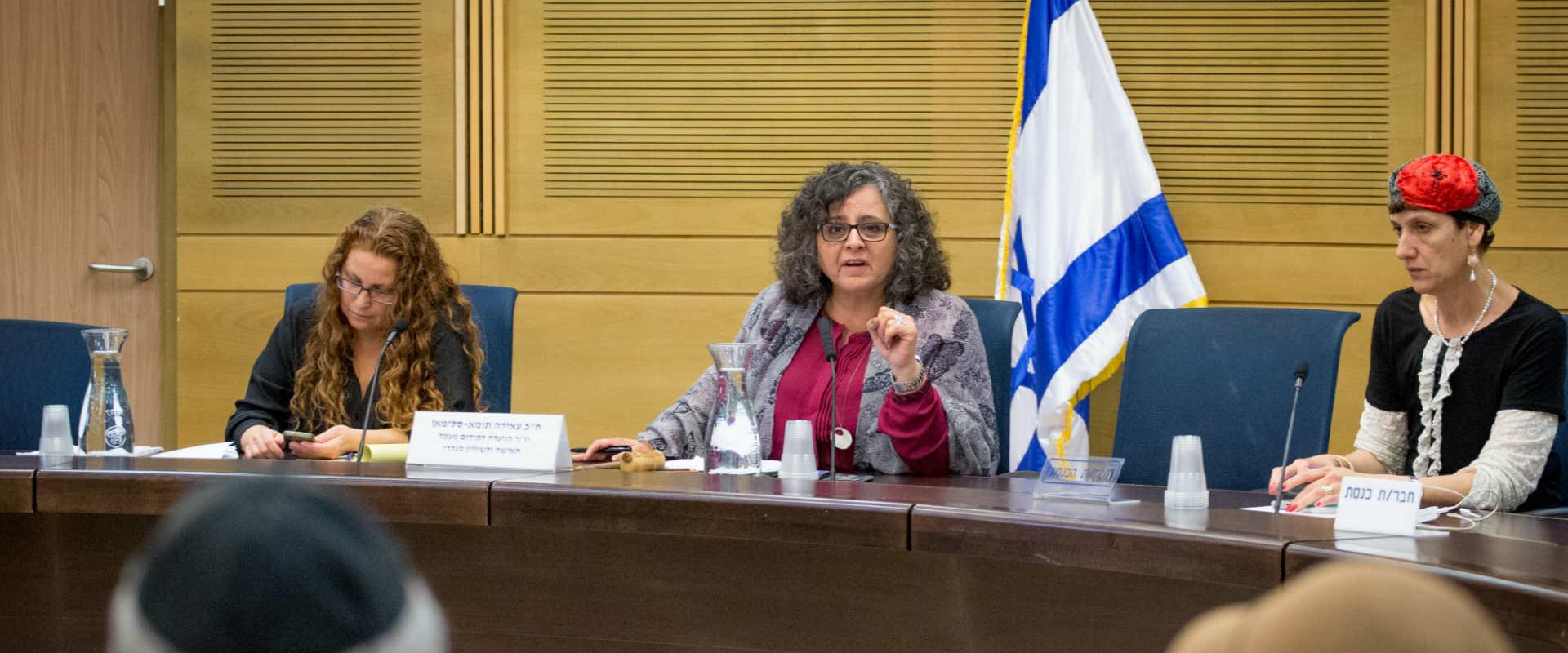 """ח""""כ עאידה תומא סולימאן בוועדה לקידום מעמד האישה"""