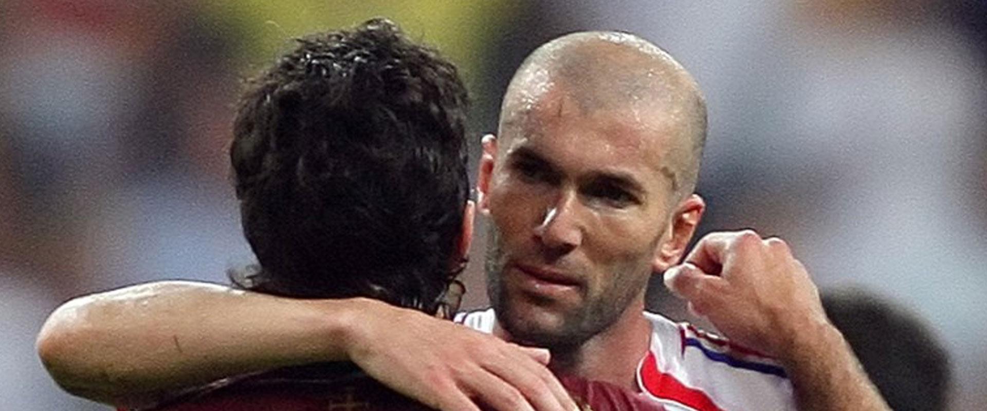 זיזו אחרי הניצחון על פורטוגל בחצי גמר מונדיאל 2006