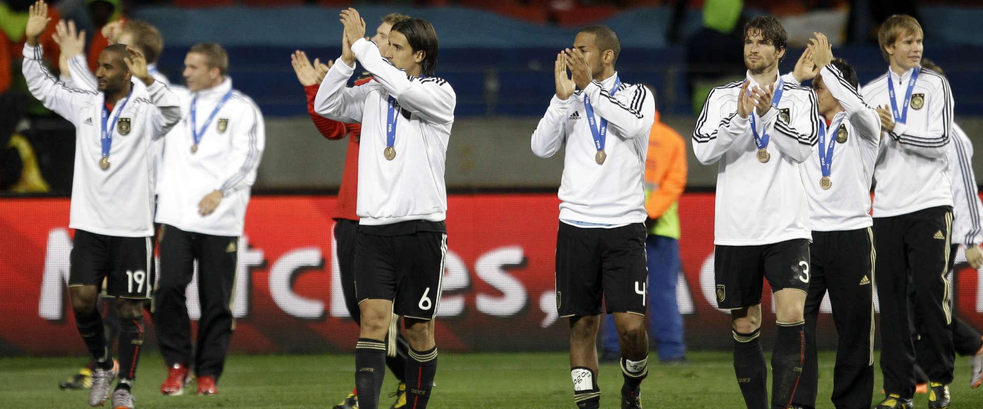 גרמניה מסיימת במקום השלישי במונדיאל 2010