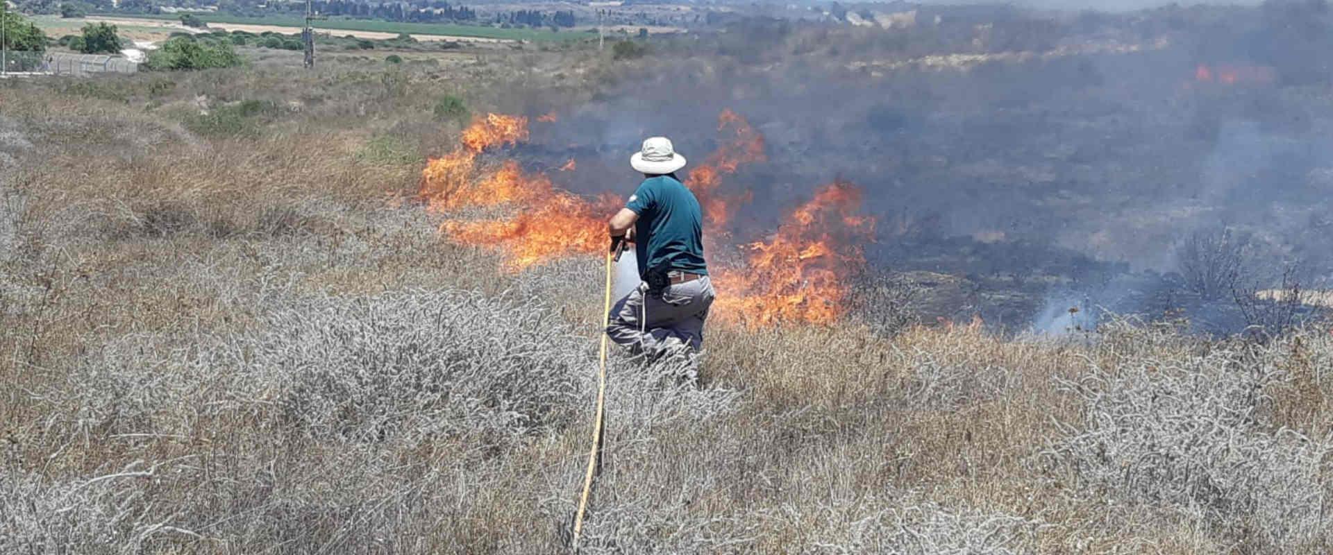 שריפה בשמורת ניר-עם