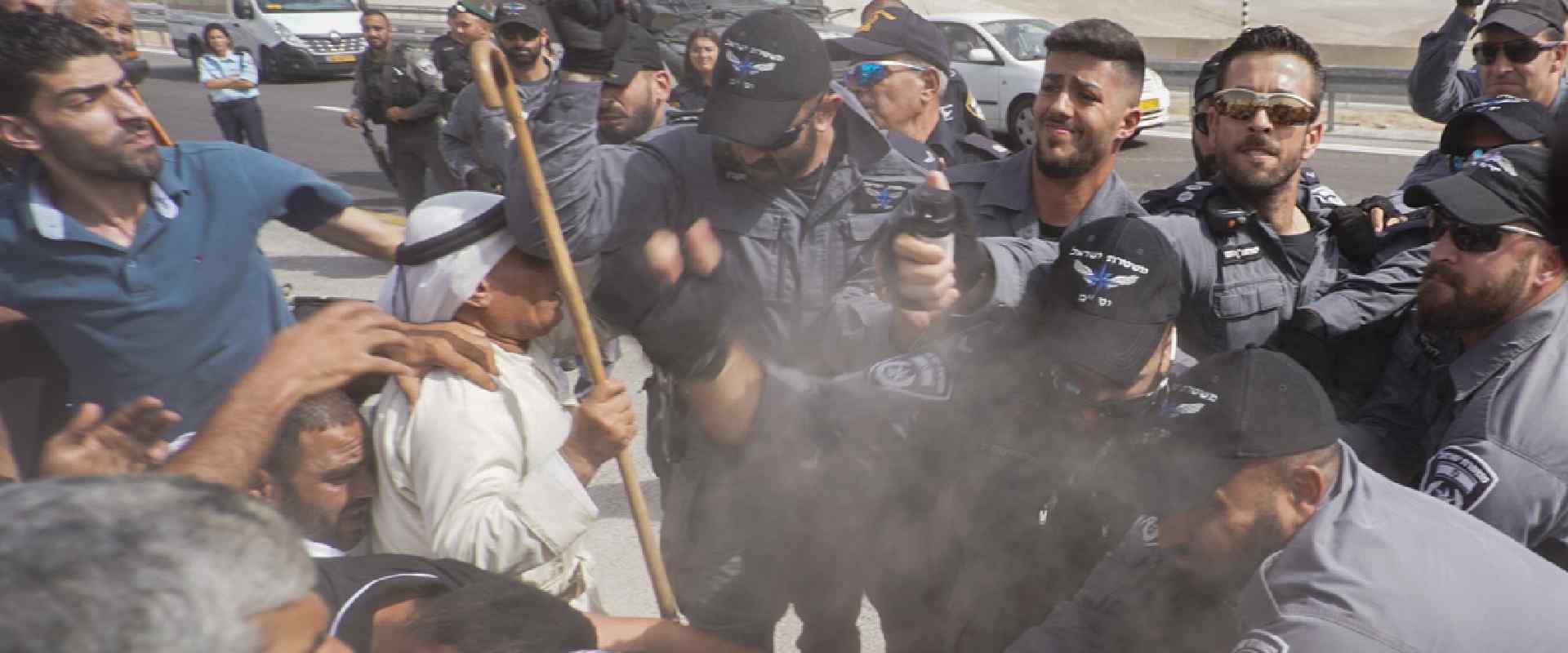 הפגנת מחאה נגד פינוי הכפר