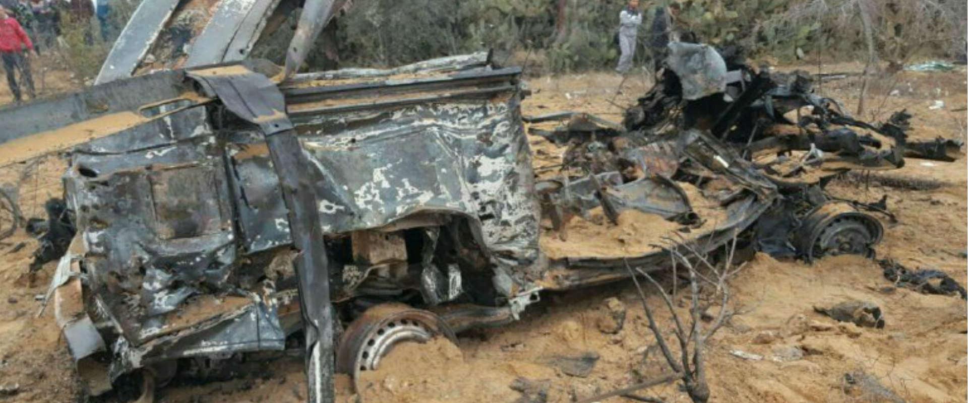 כלי הרכב ההרוס בעזה