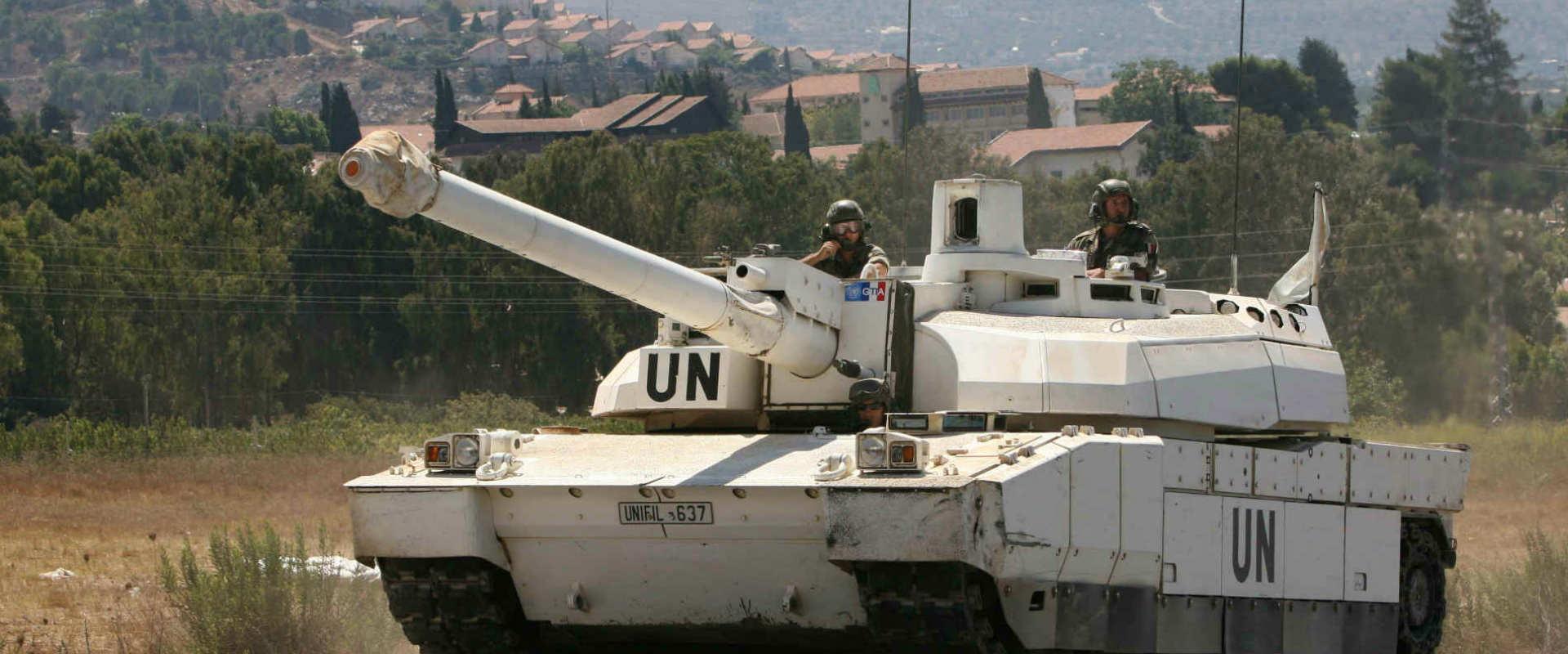 """כוח של האו""""ם בגבול ישראל-לבנון"""