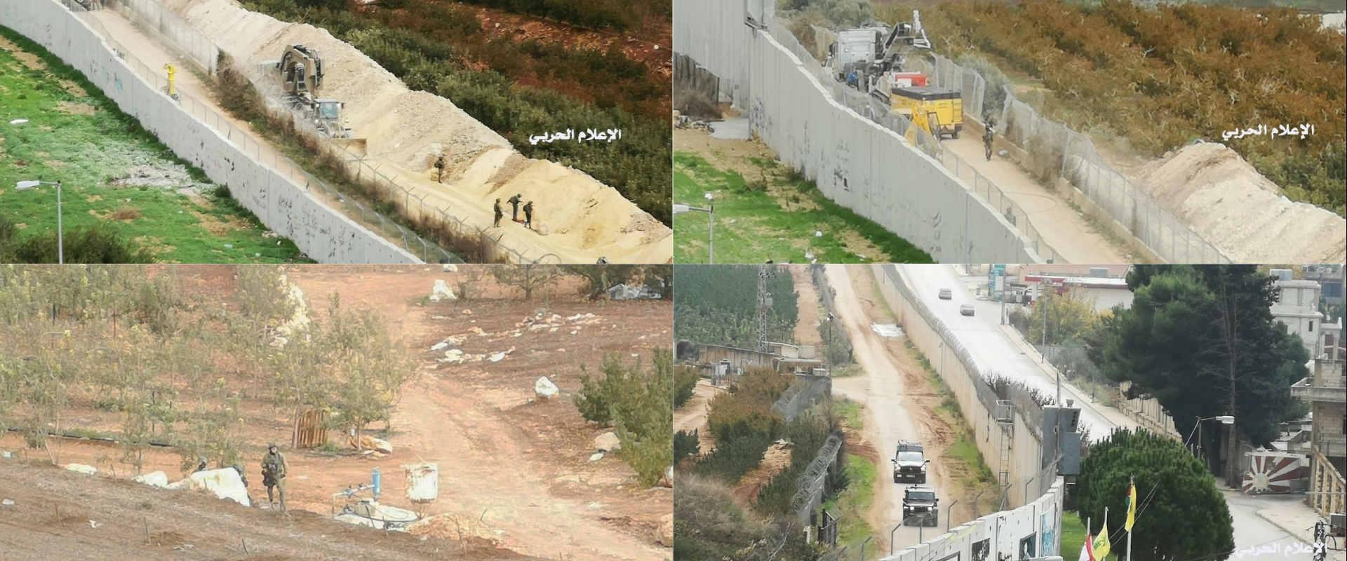 """תמונות ראשונות מפעילות צה""""ל ליד הגדר"""