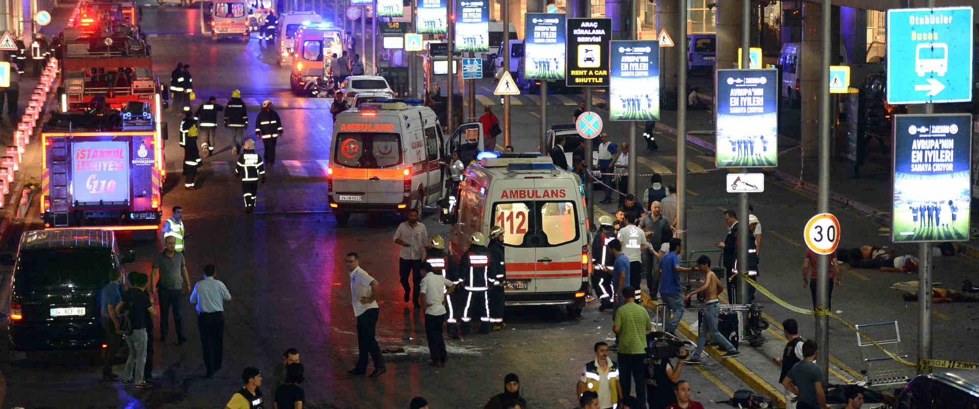 זירת הפיגוע בשדה התעופה אתאטורק, יוני 2016